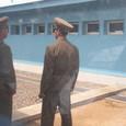 f. 会議場の中から見た北朝鮮兵士(1)